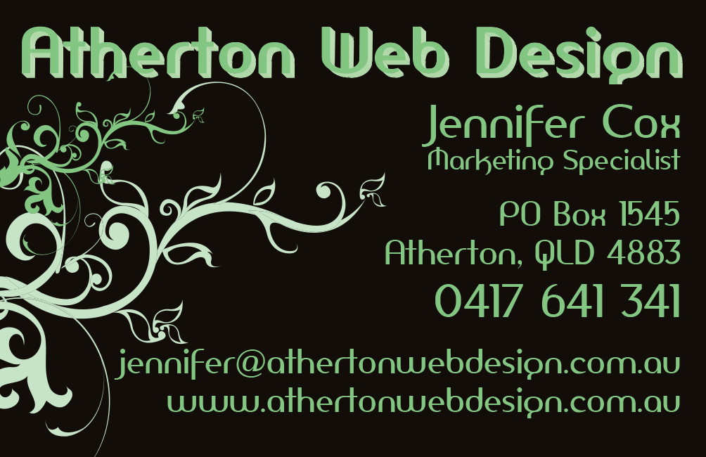 Business cards atherton web design there are many websites promising business card templates but a professional business card with a striking visual design ensures you are remembered and colourmoves