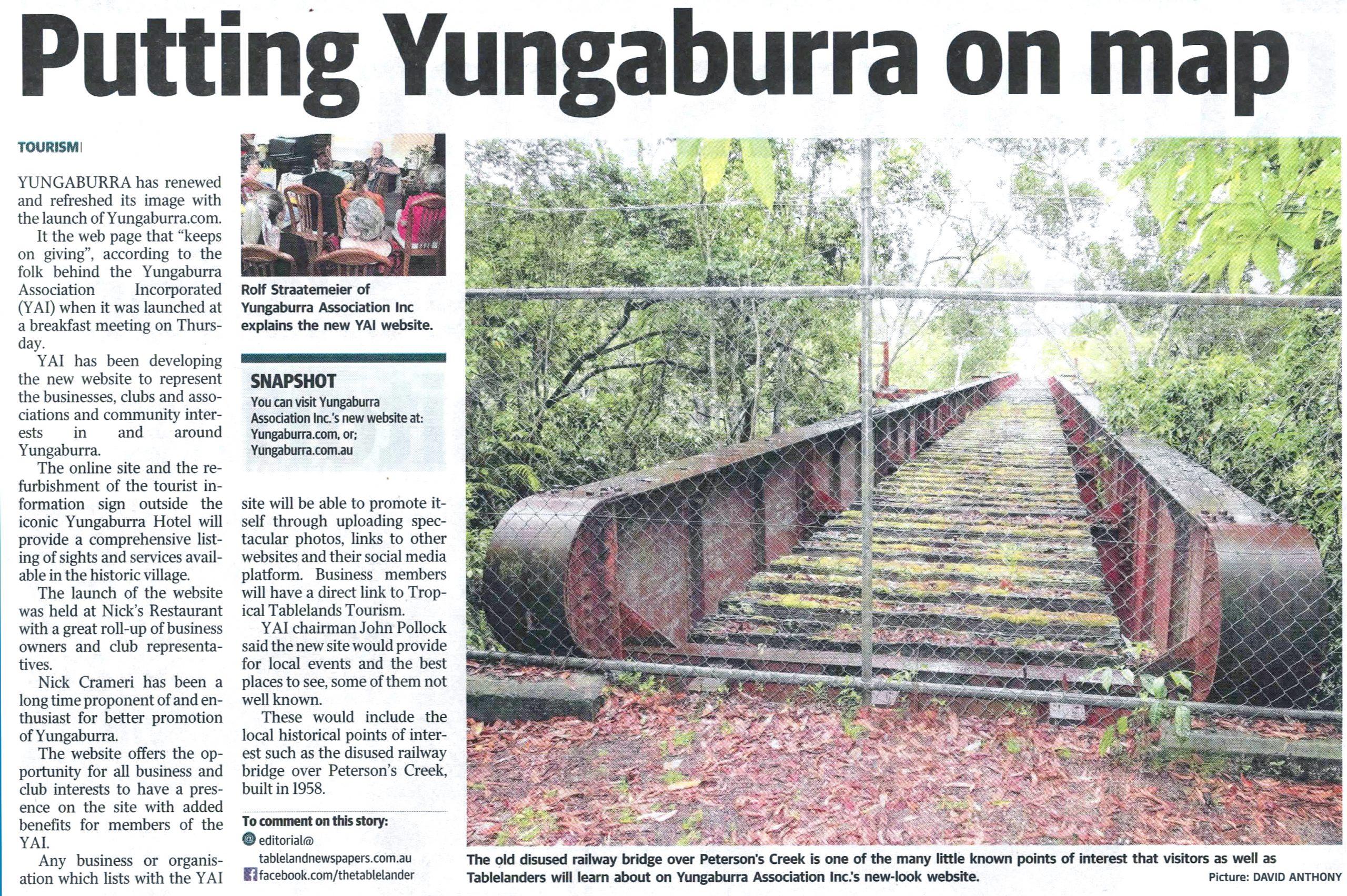 Yungaburra Association Website Launch in the Tablelander